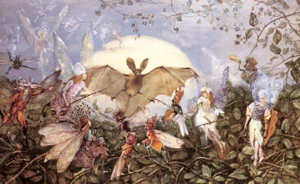Fairy Hordes Attacking A Bat